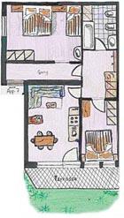 Grundriss Apartment Liese