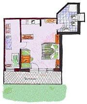 Grundriss Apartment Toni