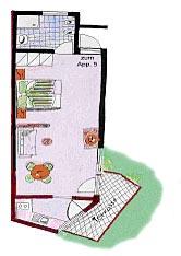 Grundriss Apartment Lotte